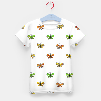 Thumbnail image of Butterfly Cartoon Drawing Motif  Pattern Kid's t-shirt, Live Heroes