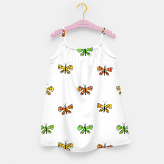 Miniaturka Butterfly Cartoon Drawing Motif  Pattern Girl's dress, Live Heroes