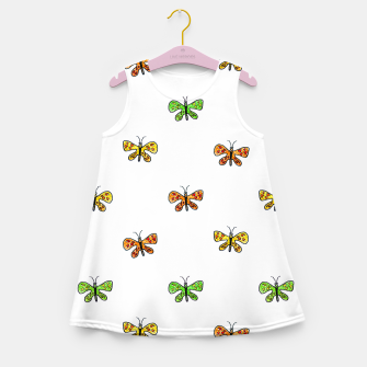 Thumbnail image of Butterfly Cartoon Drawing Motif  Pattern Girl's summer dress, Live Heroes