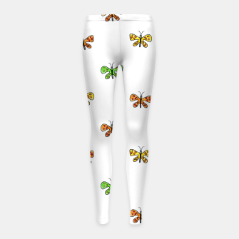 Thumbnail image of Butterfly Cartoon Drawing Motif  Pattern Girl's leggings, Live Heroes