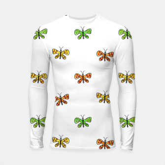Thumbnail image of Butterfly Cartoon Drawing Motif  Pattern Longsleeve rashguard , Live Heroes