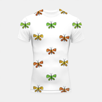 Miniatur Butterfly Cartoon Drawing Motif  Pattern Shortsleeve rashguard, Live Heroes