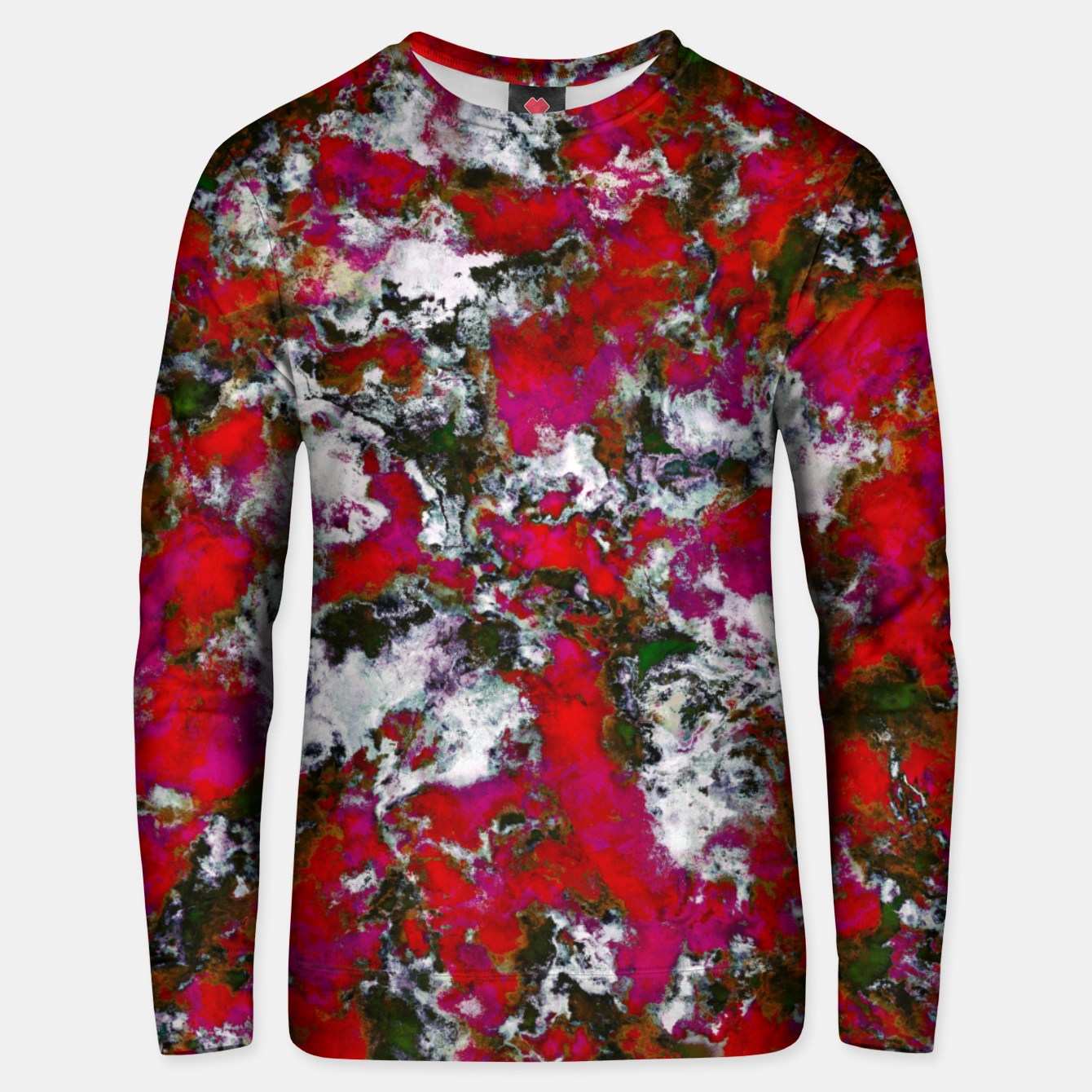 Image of Snow and red Unisex sweater - Live Heroes