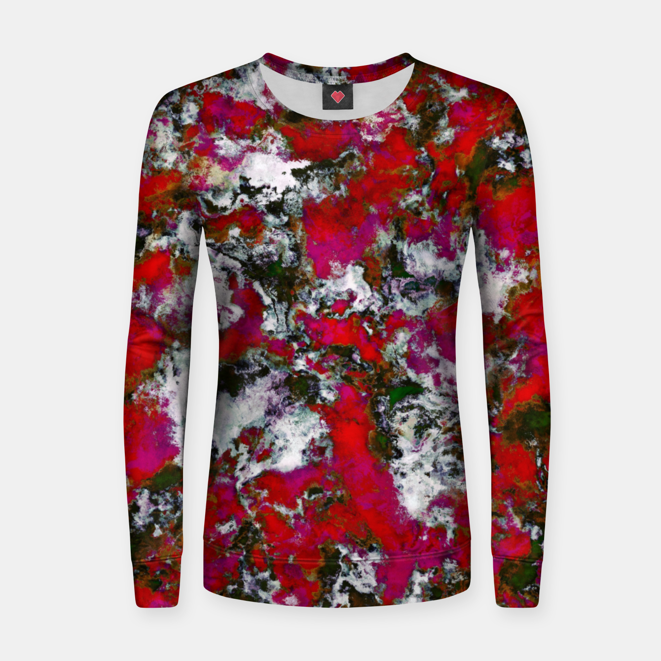 Image of Snow and red Women sweater - Live Heroes