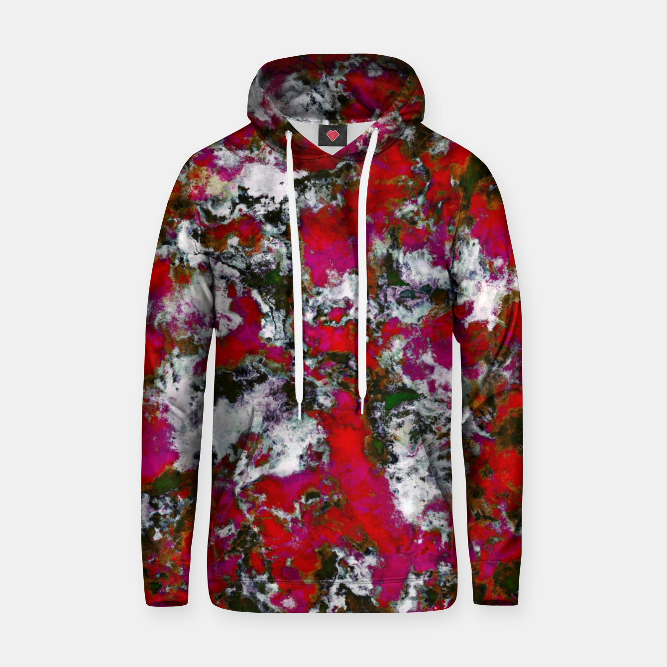 Image of Snow and red Hoodie - Live Heroes