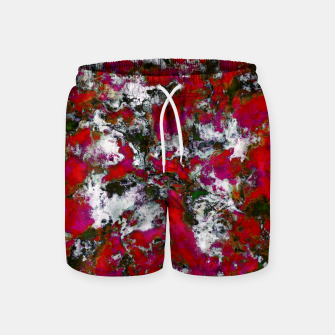 Thumbnail image of Snow and red Swim Shorts, Live Heroes
