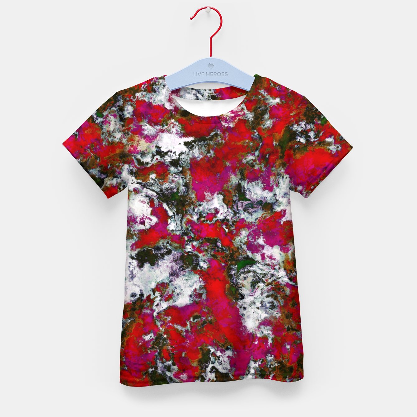 Image of Snow and red Kid's t-shirt - Live Heroes
