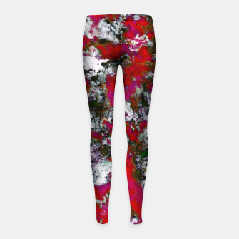 Thumbnail image of Snow and red Girl's leggings, Live Heroes