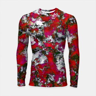 Thumbnail image of Snow and red Longsleeve rashguard , Live Heroes