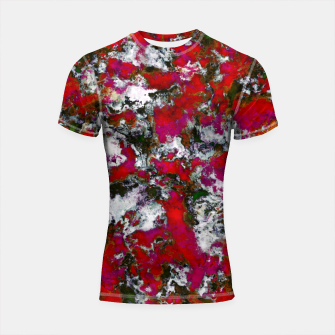Snow and red Shortsleeve rashguard thumbnail image
