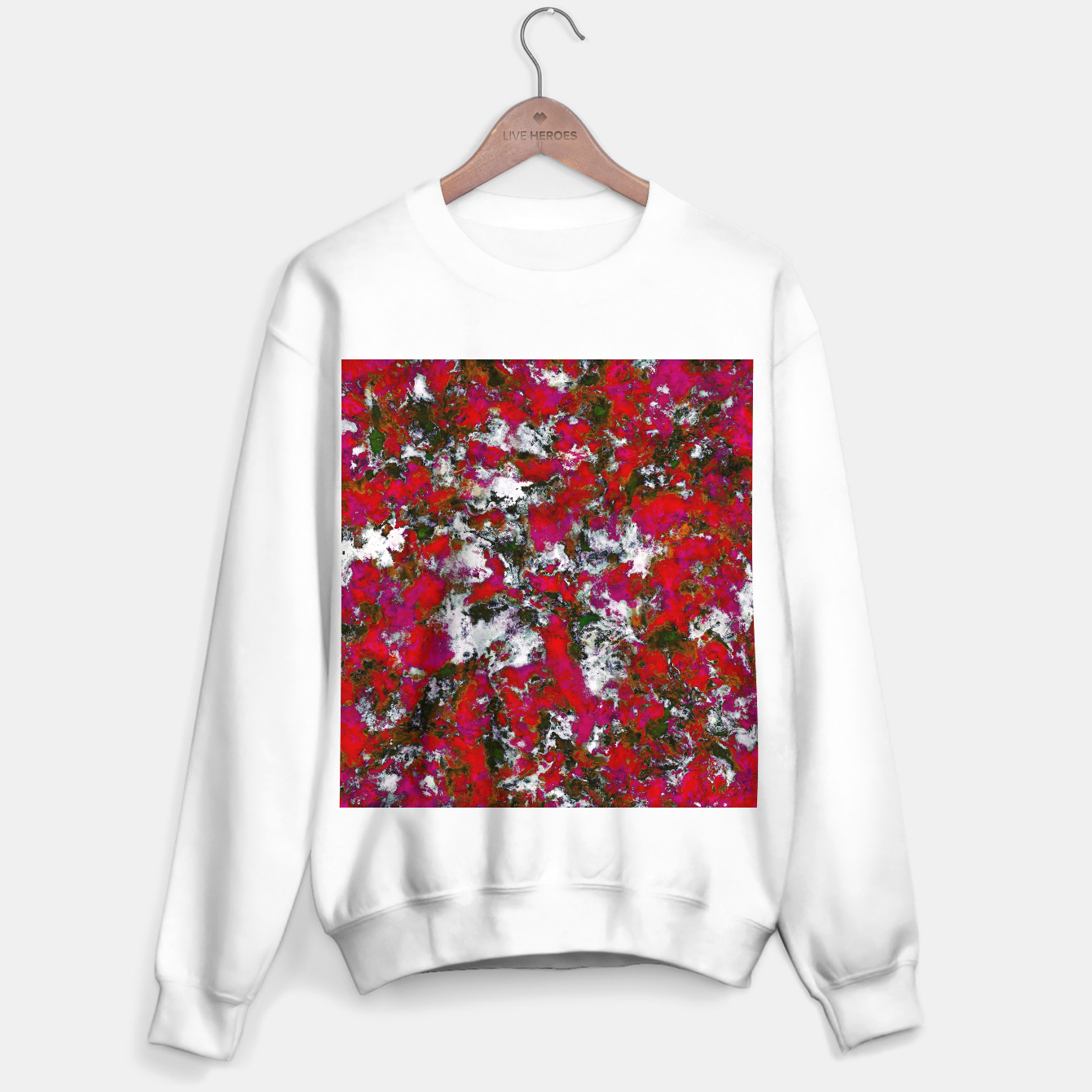 Image of Snow and red Sweater regular - Live Heroes