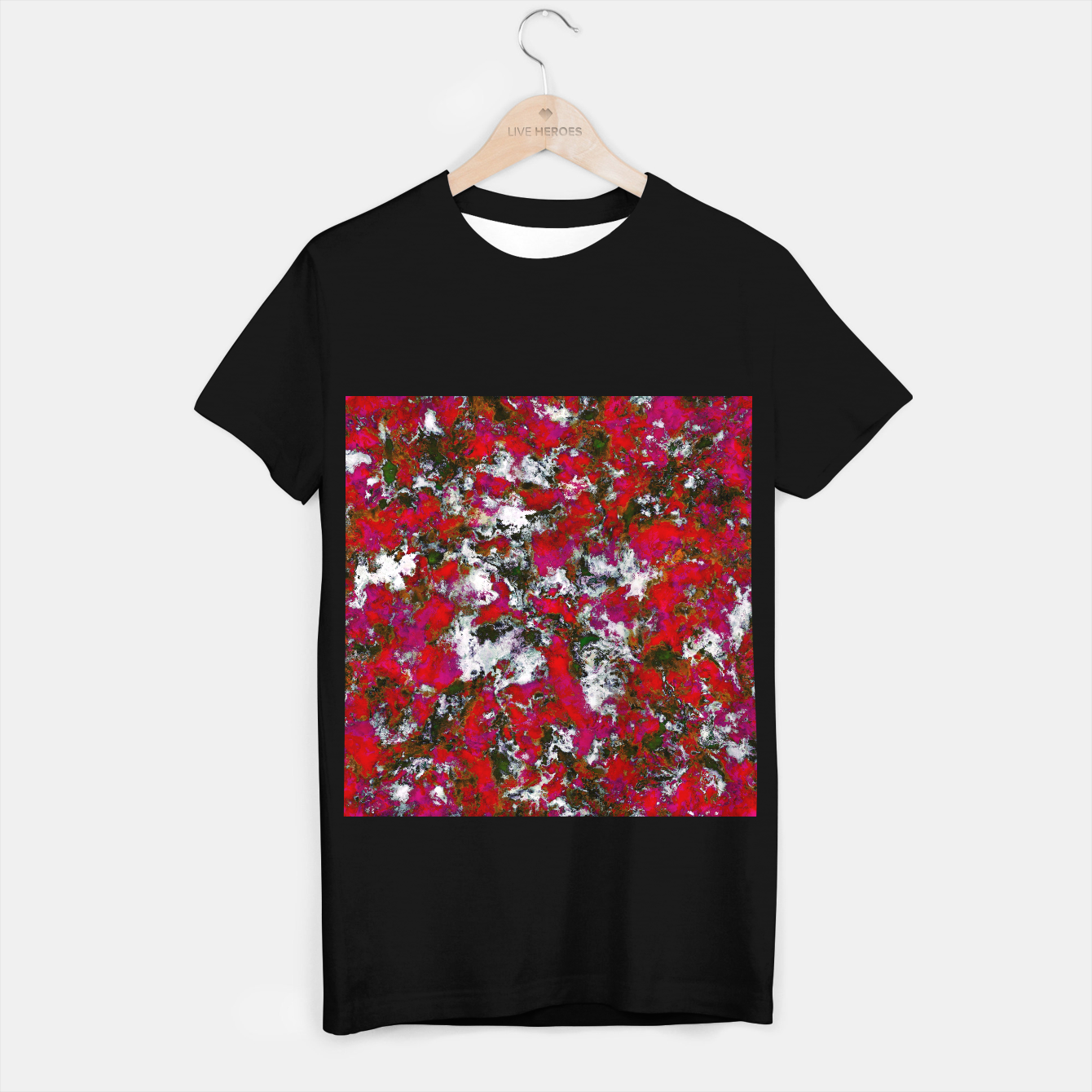 Image of Snow and red T-shirt regular - Live Heroes