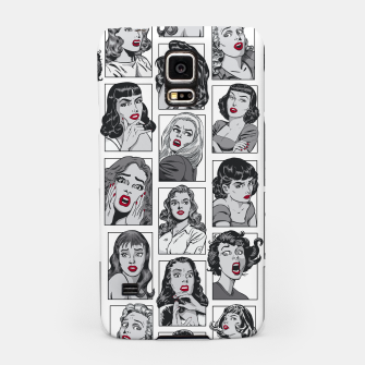 Miniatur Vintage Pulp Comic Pop Culture Pin Up Girl Art Pattern White Samsung Case, Live Heroes