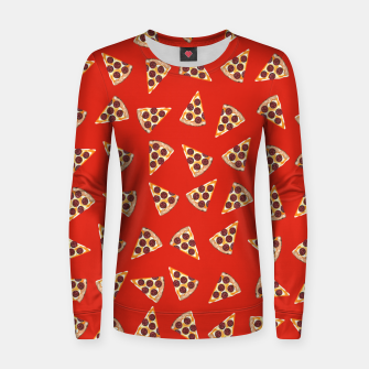 Miniatur Pizza Slice Red Women sweater, Live Heroes
