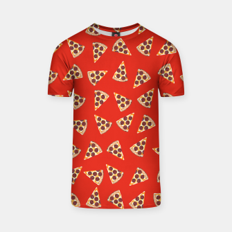 Miniatur Pizza Slice Red T-shirt, Live Heroes