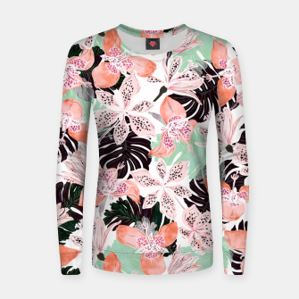 Thumbnail image of Tropical garden floral 20 Sudadera para mujeres, Live Heroes