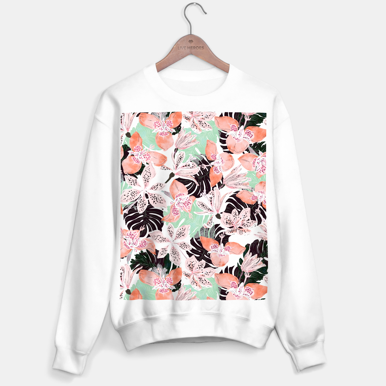 Image of Tropical garden floral 20 Sudadera regular - Live Heroes