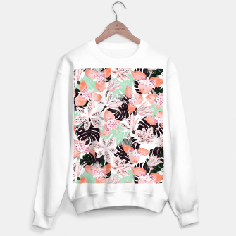 Thumbnail image of Tropical garden floral 20 Sudadera regular, Live Heroes
