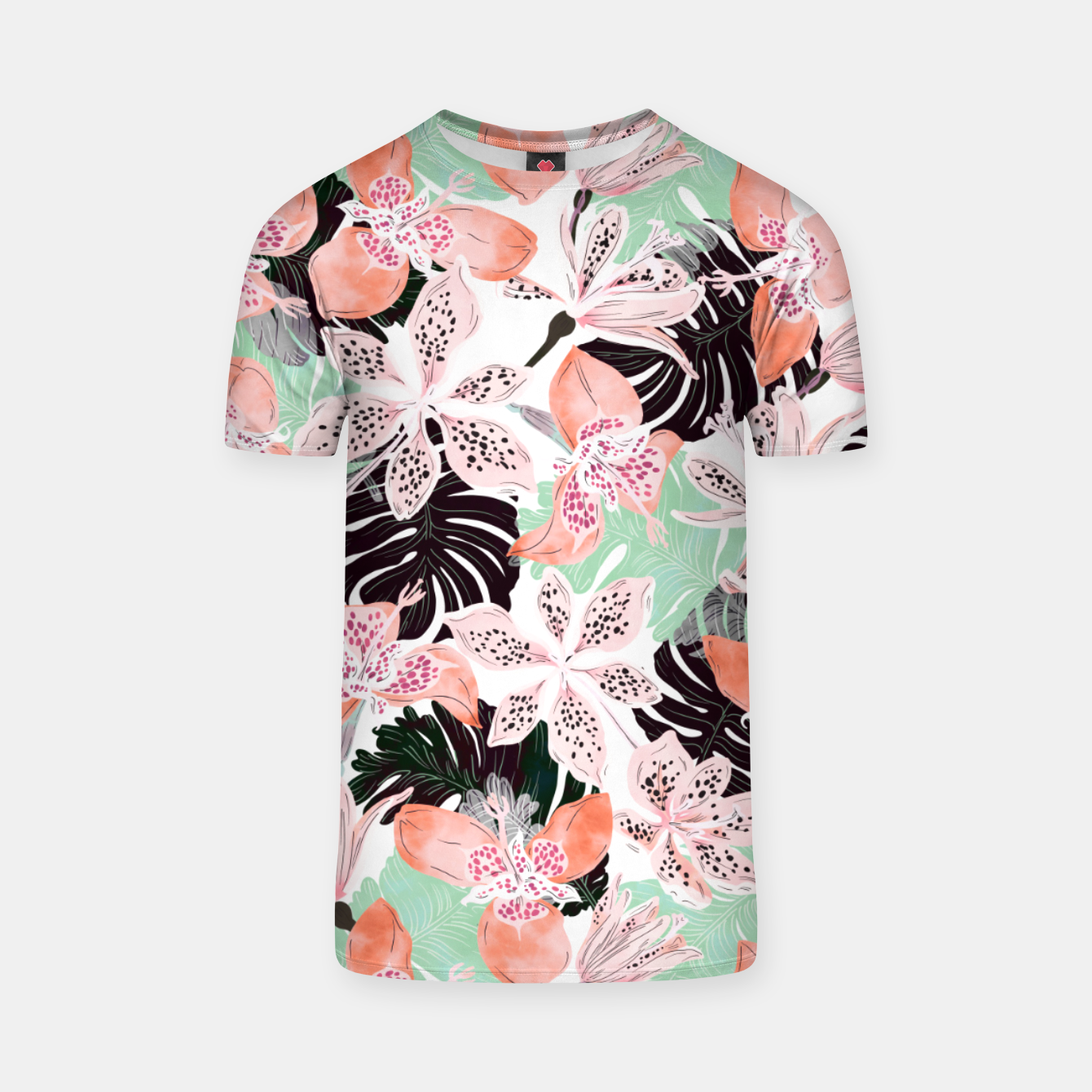 Image of Tropical garden floral 20 Camiseta - Live Heroes