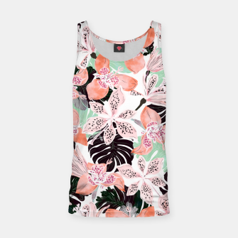 Thumbnail image of Tropical garden floral 20 Camiseta de tirantes, Live Heroes