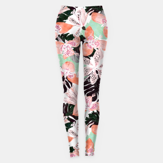 Thumbnail image of Tropical garden floral 20 Leggings, Live Heroes