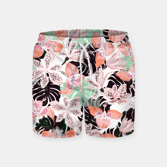 Thumbnail image of Tropical garden floral 20 Pantalones de baño, Live Heroes
