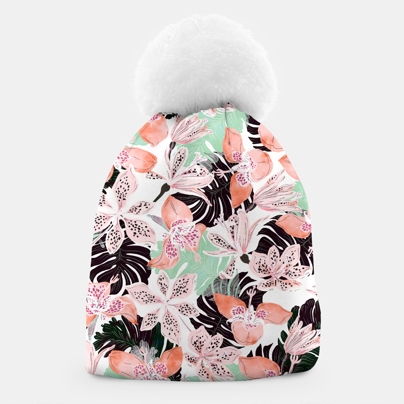Image of Tropical garden floral 20 Gorro - Live Heroes