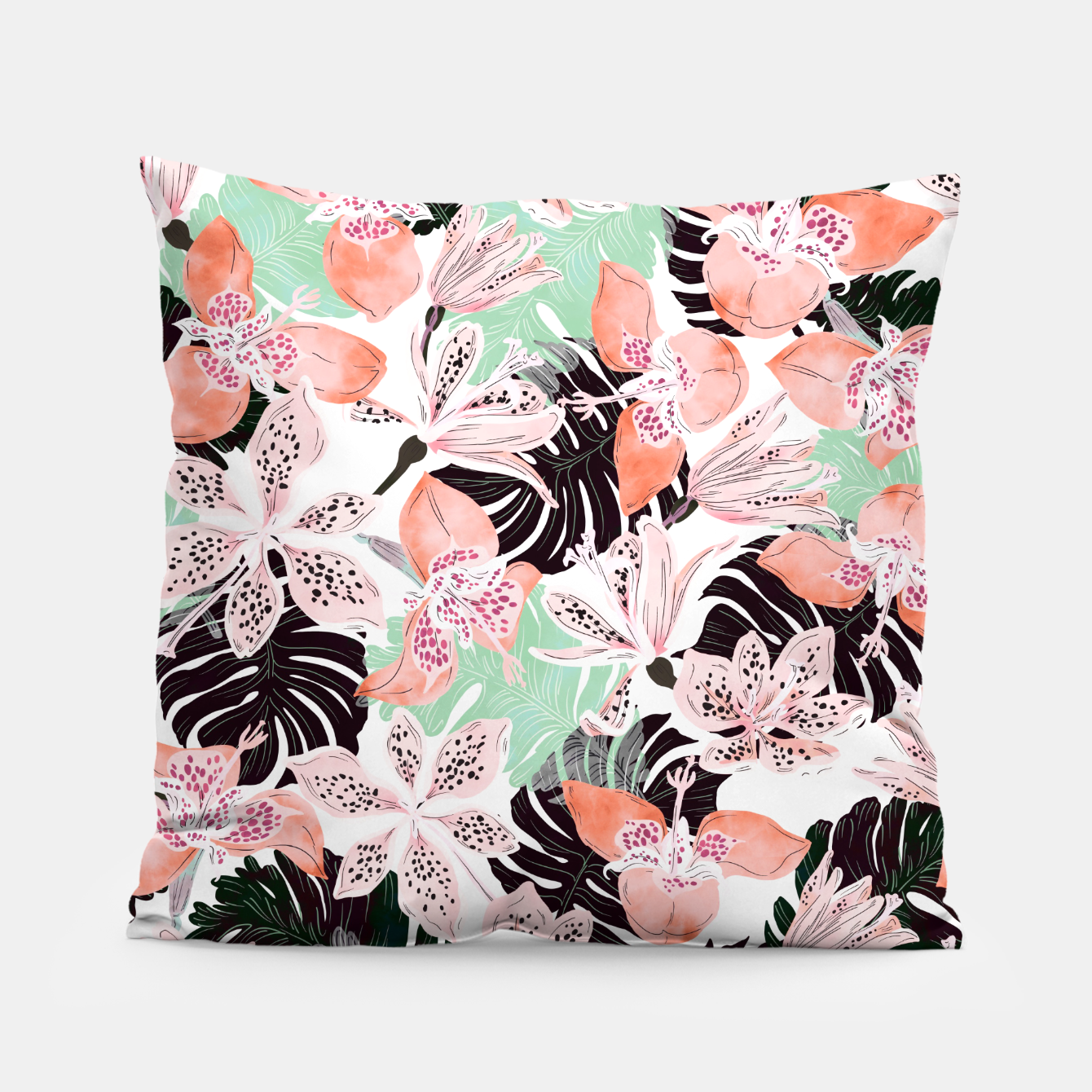 Image of Tropical garden floral 20 Almohada - Live Heroes