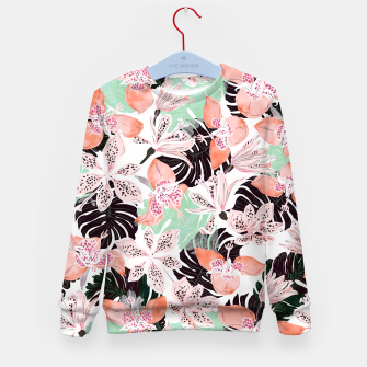 Thumbnail image of Tropical garden floral 20 Sudadera para niños, Live Heroes
