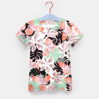 Thumbnail image of Tropical garden floral 20 Camiseta para niños, Live Heroes