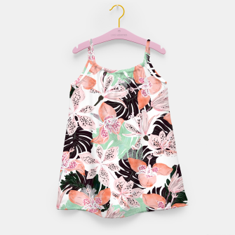 Thumbnail image of Tropical garden floral 20 Vestido para niñas, Live Heroes