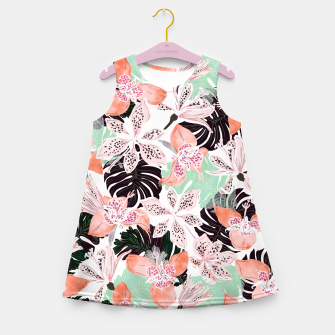 Thumbnail image of Tropical garden floral 20 Vestido de verano para niñas, Live Heroes