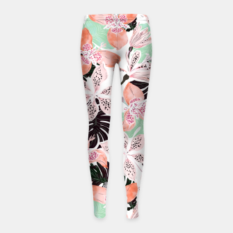 Thumbnail image of Tropical garden floral 20 Leggings para niña, Live Heroes