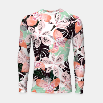 Thumbnail image of Tropical garden floral 20 Longsleeve rashguard, Live Heroes