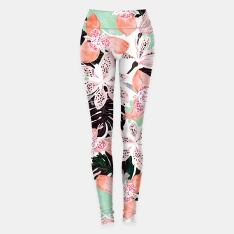 Tropical garden floral 20 Leggings thumbnail image