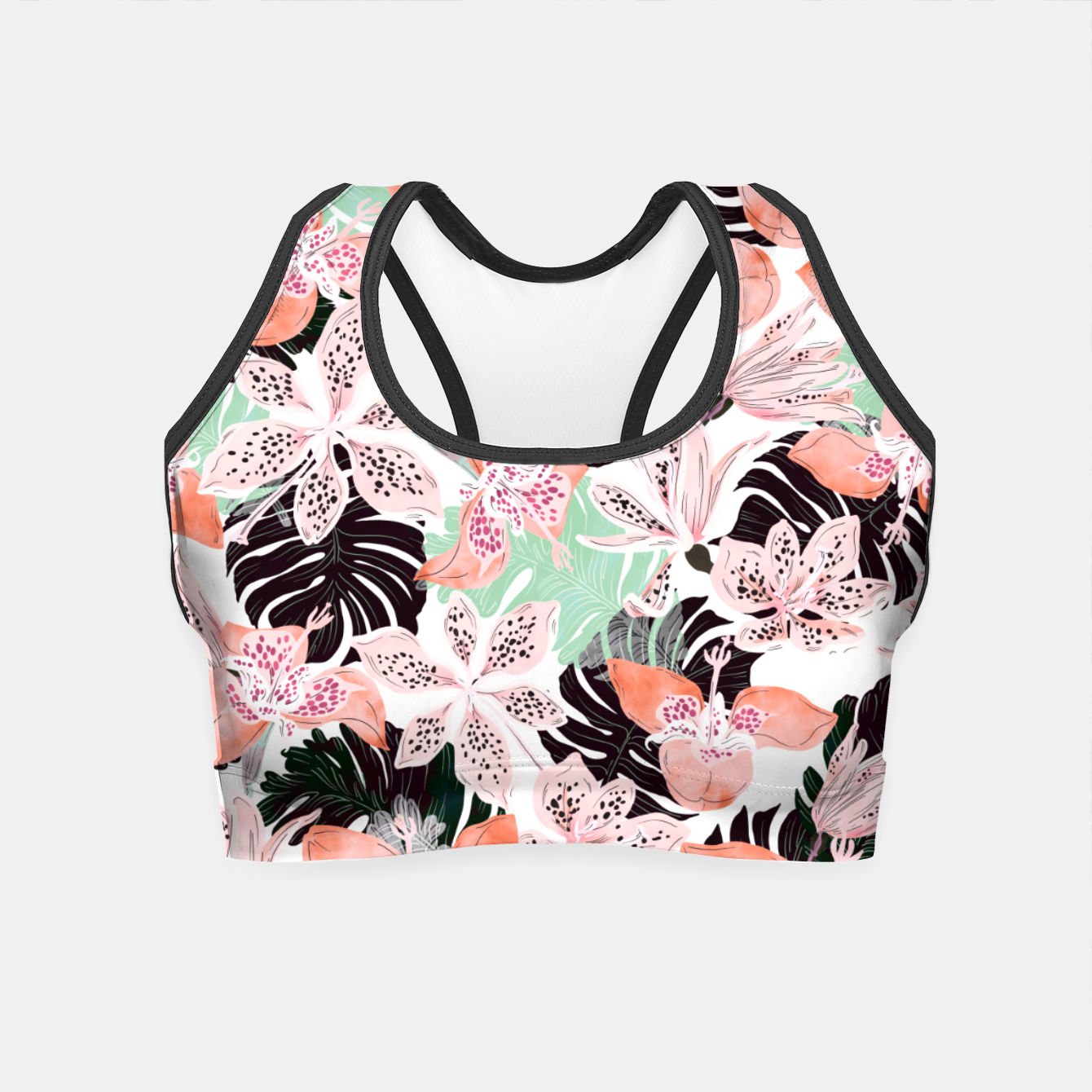 Foto Tropical garden floral 20 Crop Top - Live Heroes