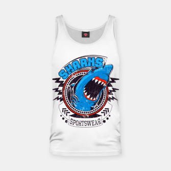 Miniatur Sharks Sports Wear  Tank Top, Live Heroes
