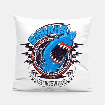 Miniatur Sharks Sports Wear  Pillow, Live Heroes