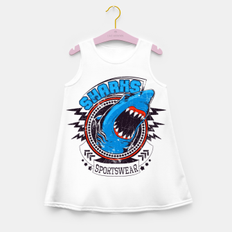 Miniatur Sharks Sports Wear  Girl's summer dress, Live Heroes