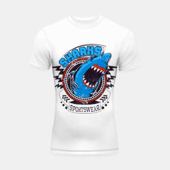 Miniatur Sharks Sports Wear  Shortsleeve rashguard, Live Heroes