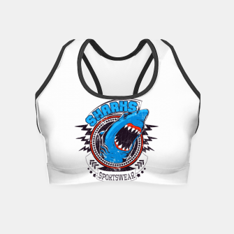 Miniatur Sharks Sports Wear  Crop Top, Live Heroes