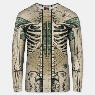 Thumbnail image of Spliced Skeleton  Unisex sweater, Live Heroes