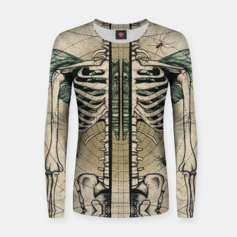 Miniatur Spliced Skeleton  Women sweater, Live Heroes