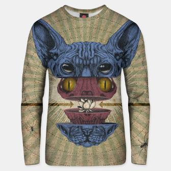 Thumbnail image of Spliced Sphynx Unisex sweater, Live Heroes