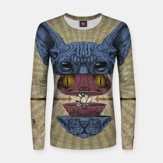 Thumbnail image of Spliced Sphynx Women sweater, Live Heroes