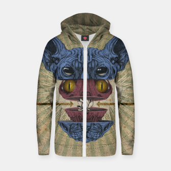 Miniaturka Spliced Sphynx Zip up hoodie, Live Heroes