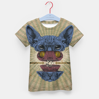 Thumbnail image of Spliced Sphynx Kid's t-shirt, Live Heroes