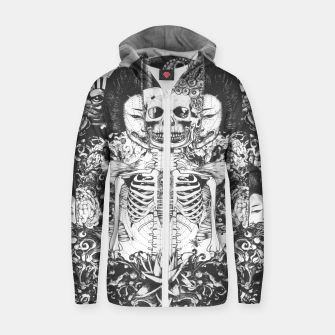 Miniaturka Skeleton Shrine Dark Zip up hoodie, Live Heroes