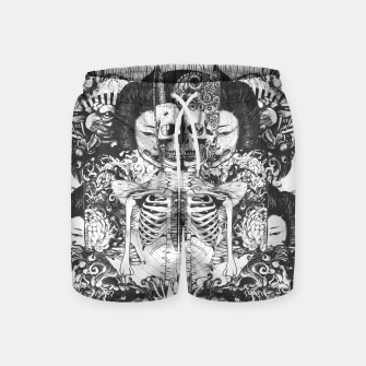 Miniatur Skeleton Shrine Dark Swim Shorts, Live Heroes