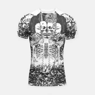 Miniatur Skeleton Shrine Dark Shortsleeve rashguard, Live Heroes
